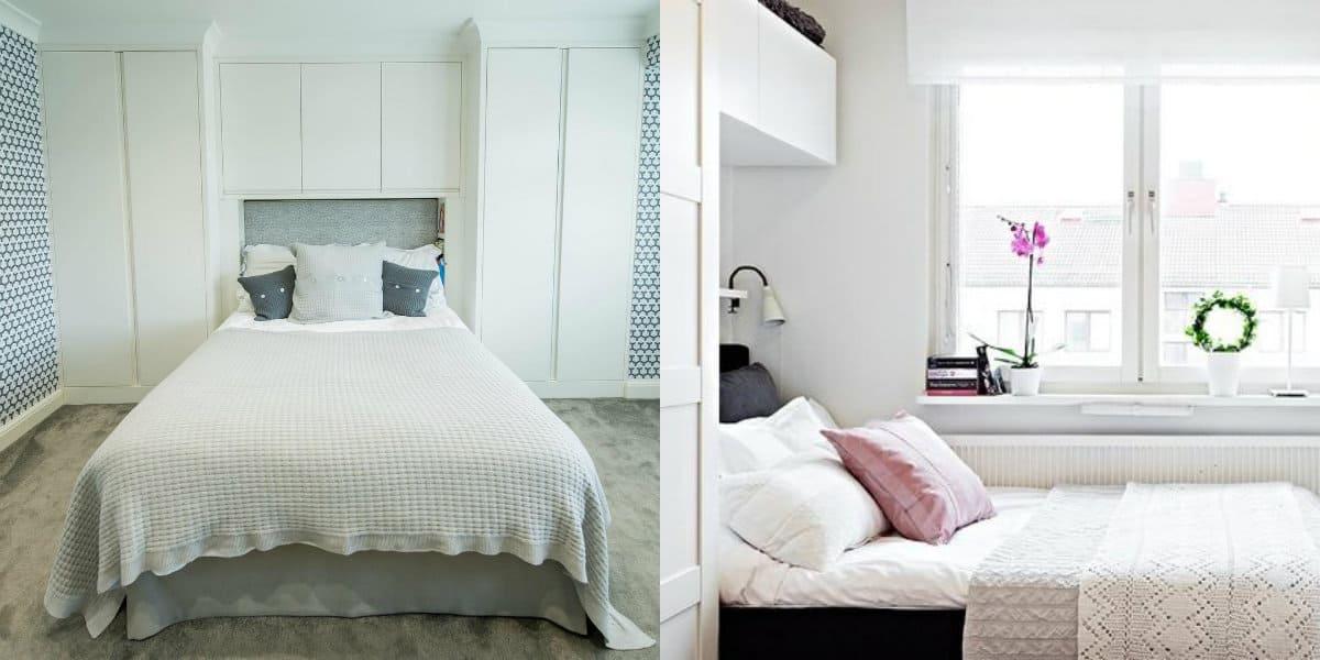 дизайн маленькой спальни 2019: цвет