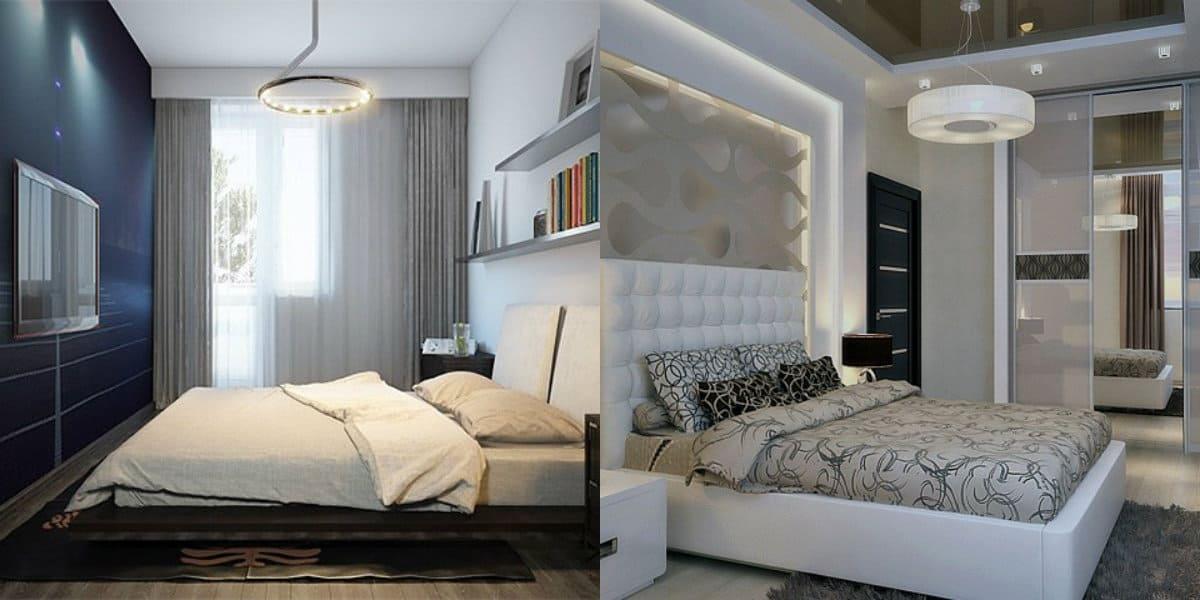 дизайн маленькой спальни 2019: отделка