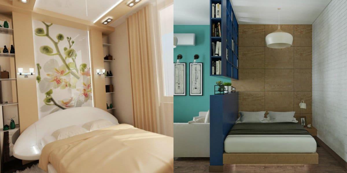 дизайн маленькой спальни 2019: декор