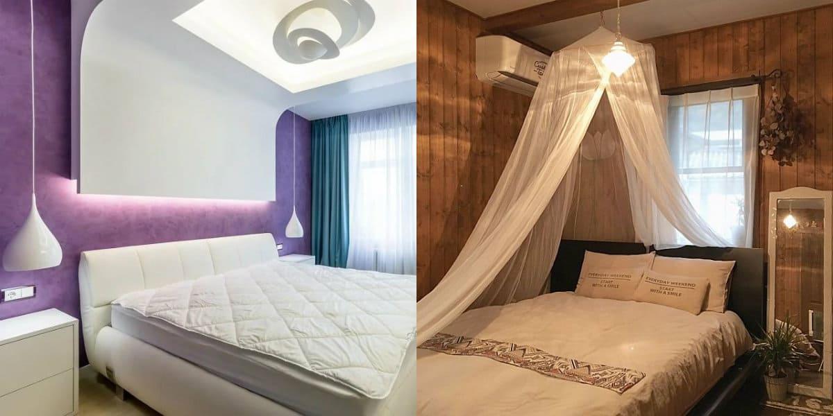 дизайн маленькой спальни 2019: эко-стиль