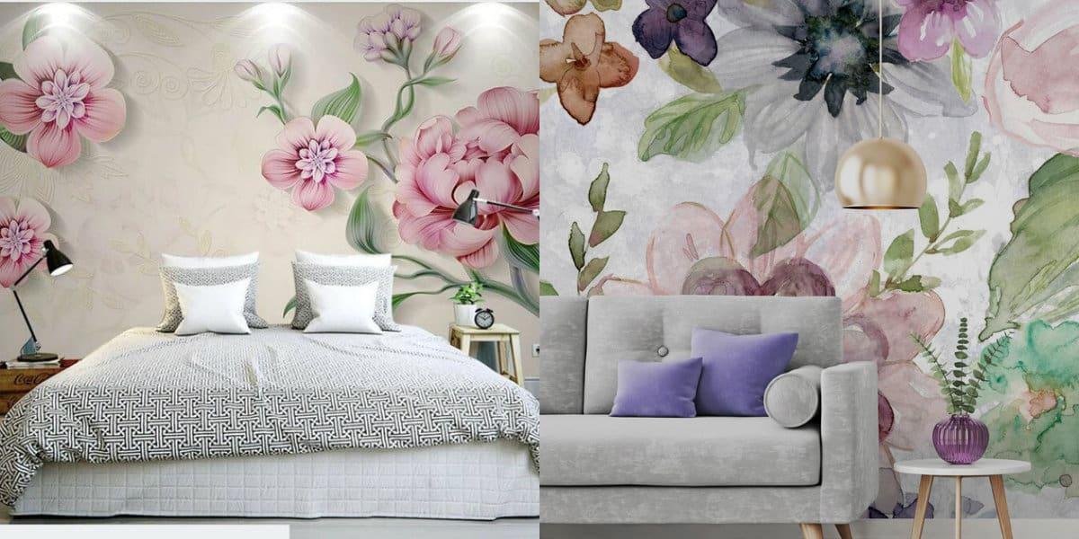 дизайн обоев 2019: цветы