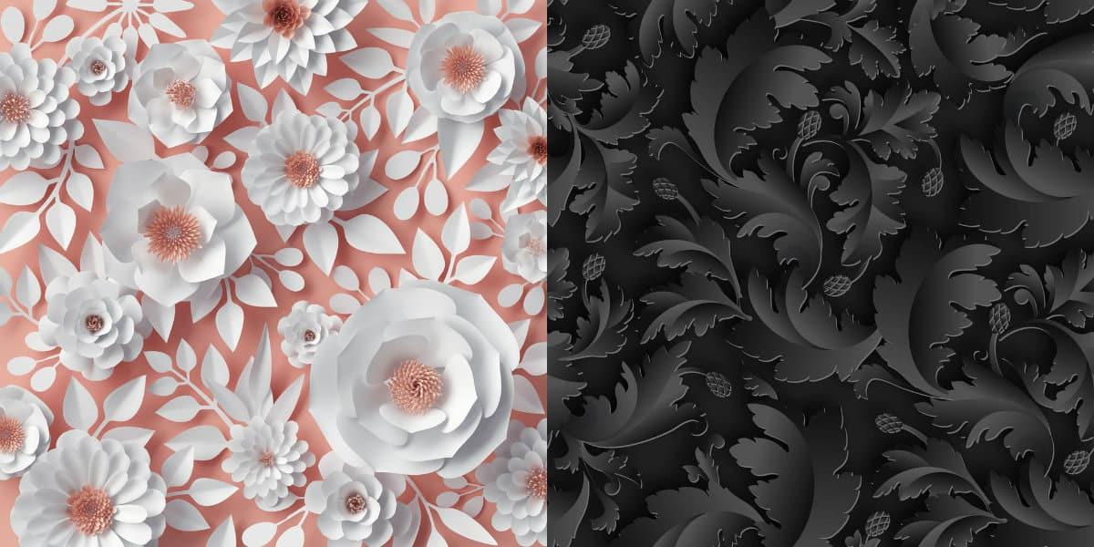 дизайн обоев 2019 : фактурные цветы