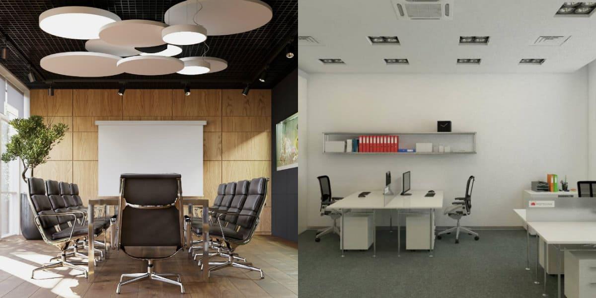 дизайн офиса 2019.: осветительные приборы