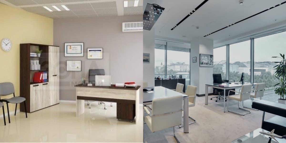дизайн офиса 2019: : светлая отделка