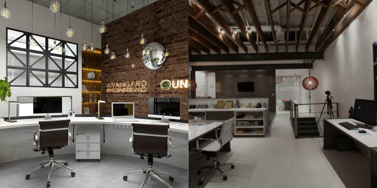 Дизайн офиса 2019: лофт