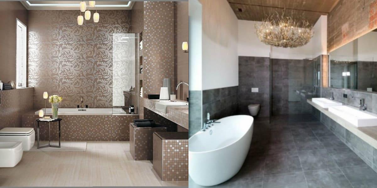 Плитка для ванной 2019: неоклассика