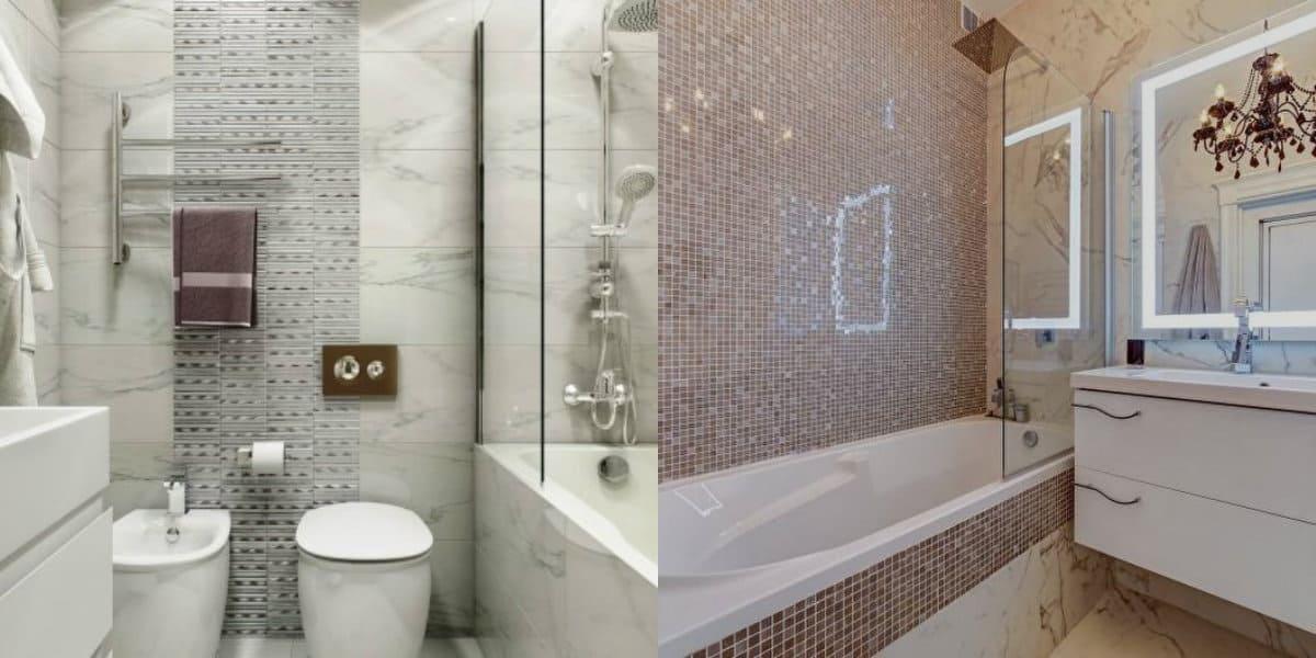 Плитка для ванной 2019: мозаика
