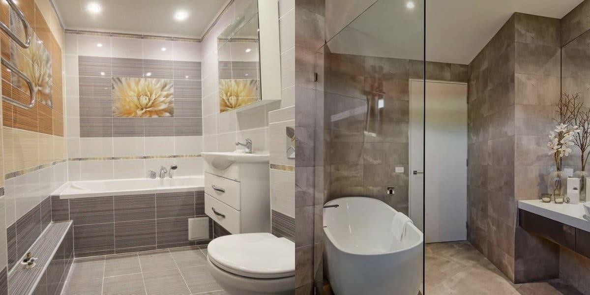 Плитка для ванной 2019: дизайн