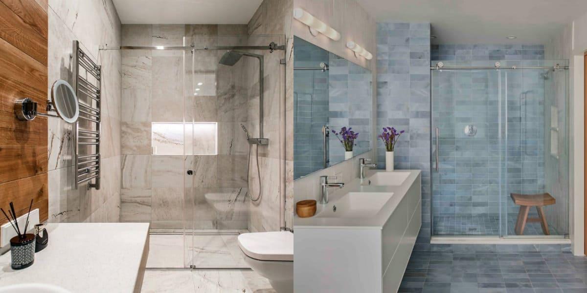 Плитка для ванной 2019: плитка под камень