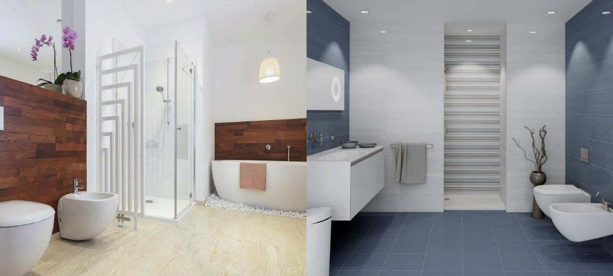 дизайн ванной 2019 : парящая сантехника