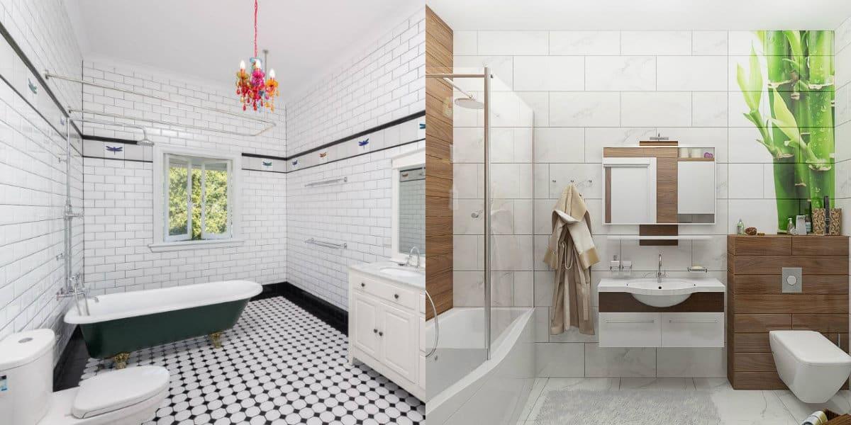 дизайн ванной 2019: деревянная мебель