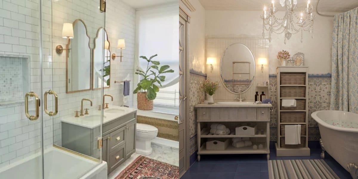 дизайн ванной 2019: прозрачная кабинка