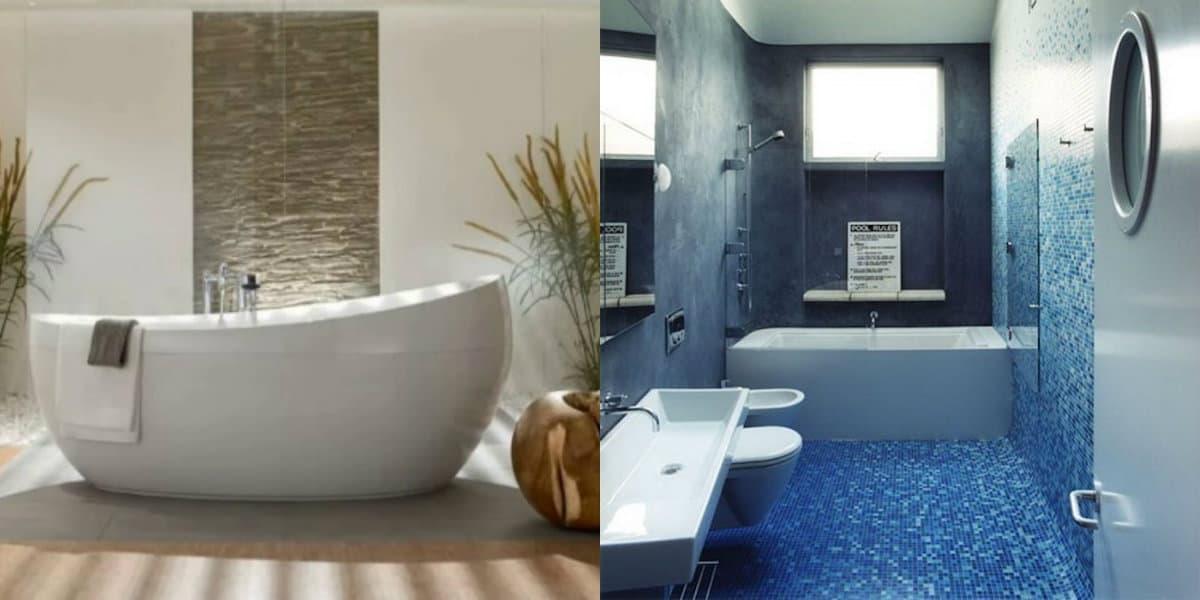 дизайн ванной 2019: мозаика