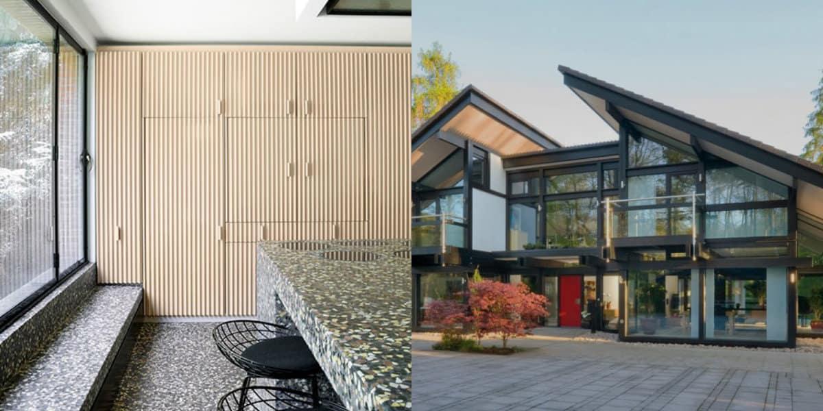 дизайн дома 2019: панорамные окна