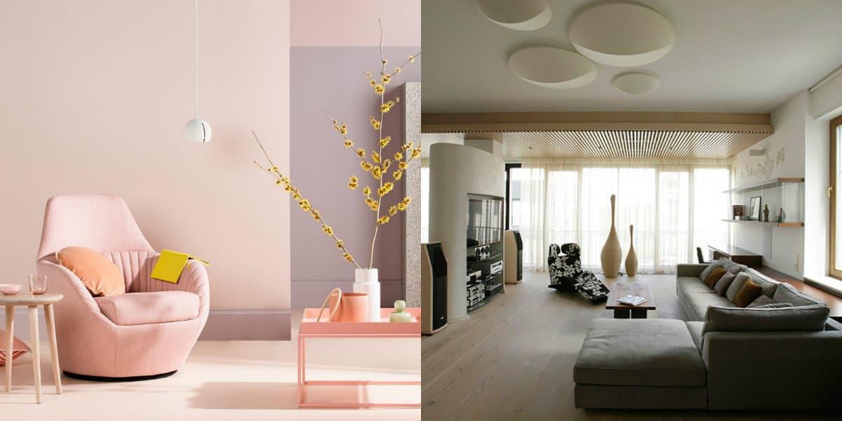 Дизайн интерьера 2019: потолок