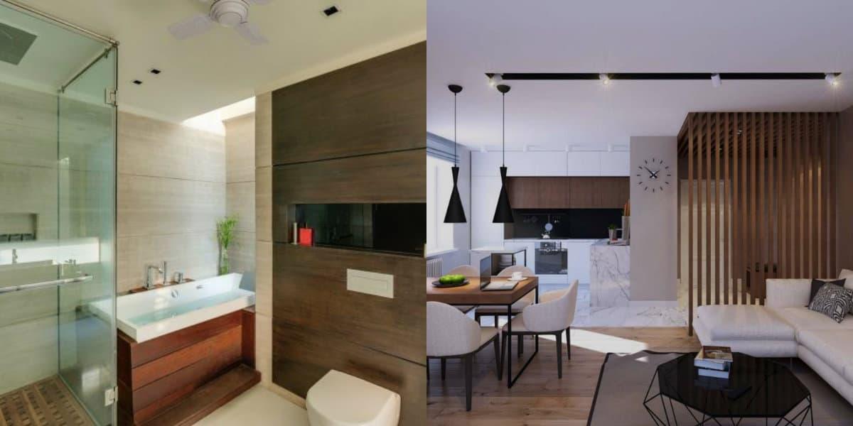 Дизайн квартиры в современном стиле 2019: дерево