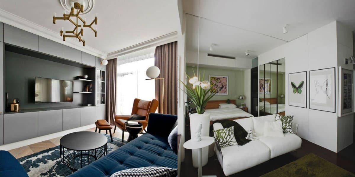 Дизайн квартиры в современном стиле 2019: гостиная