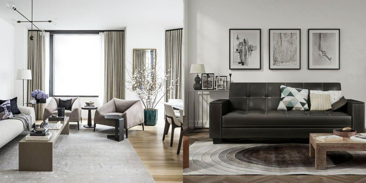 Дизайн квартиры в современном стиле 2019: диван