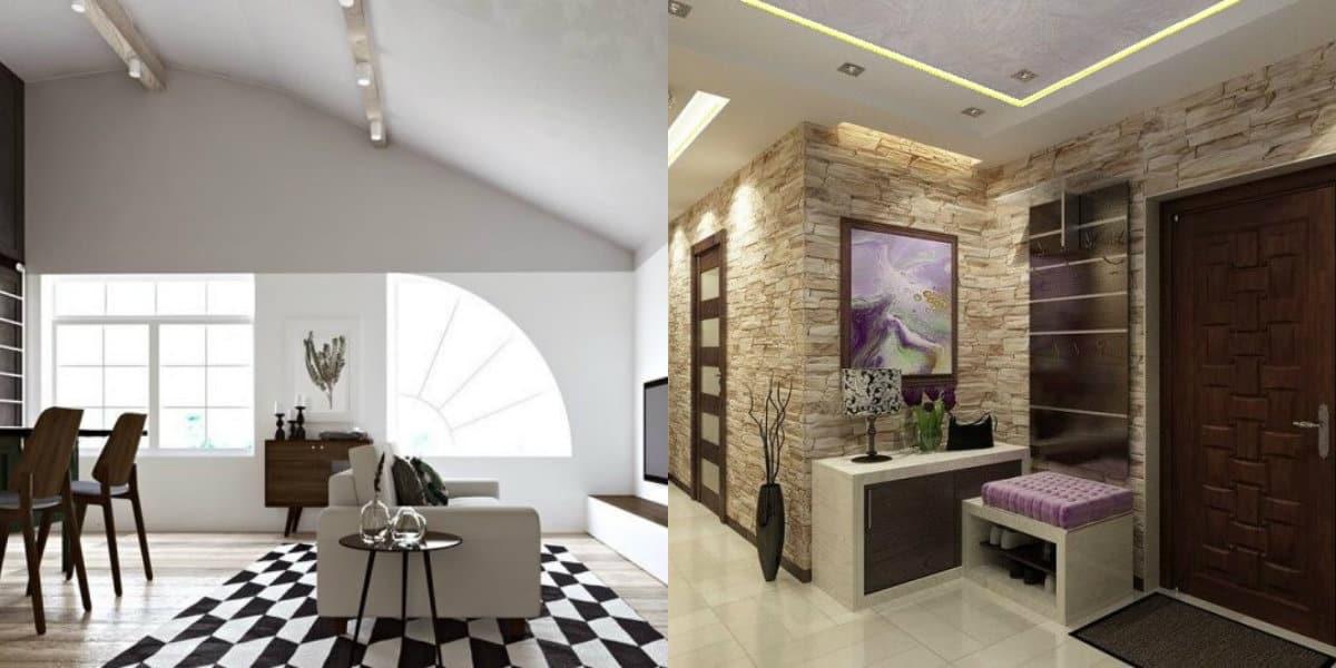 Дизайн квартиры 2019: камень в интерьере