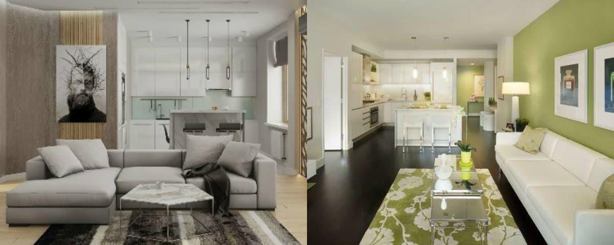 дизайн кухни гостиной 2019: стиль