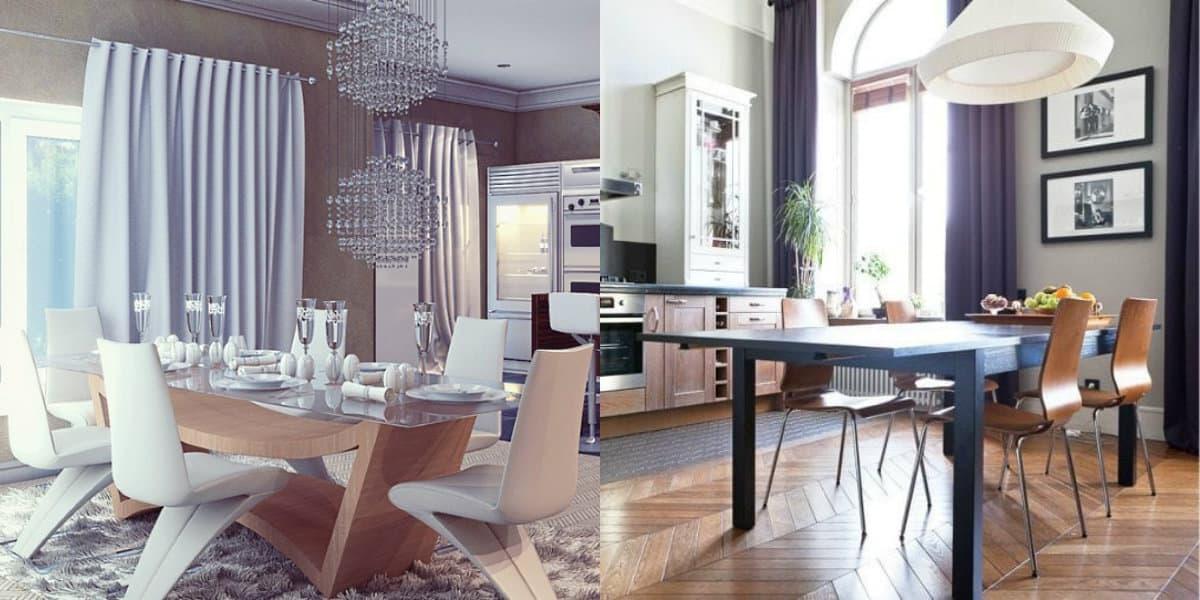 Дизайн столовой 2019: мебель