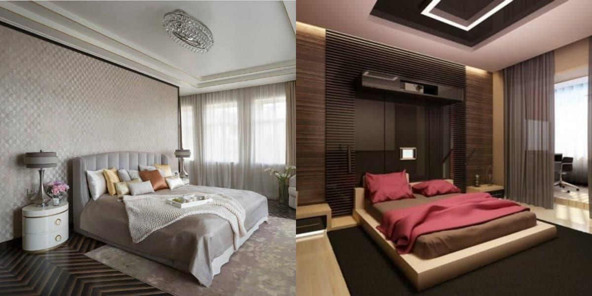 Интерьер спальни 2019: альков
