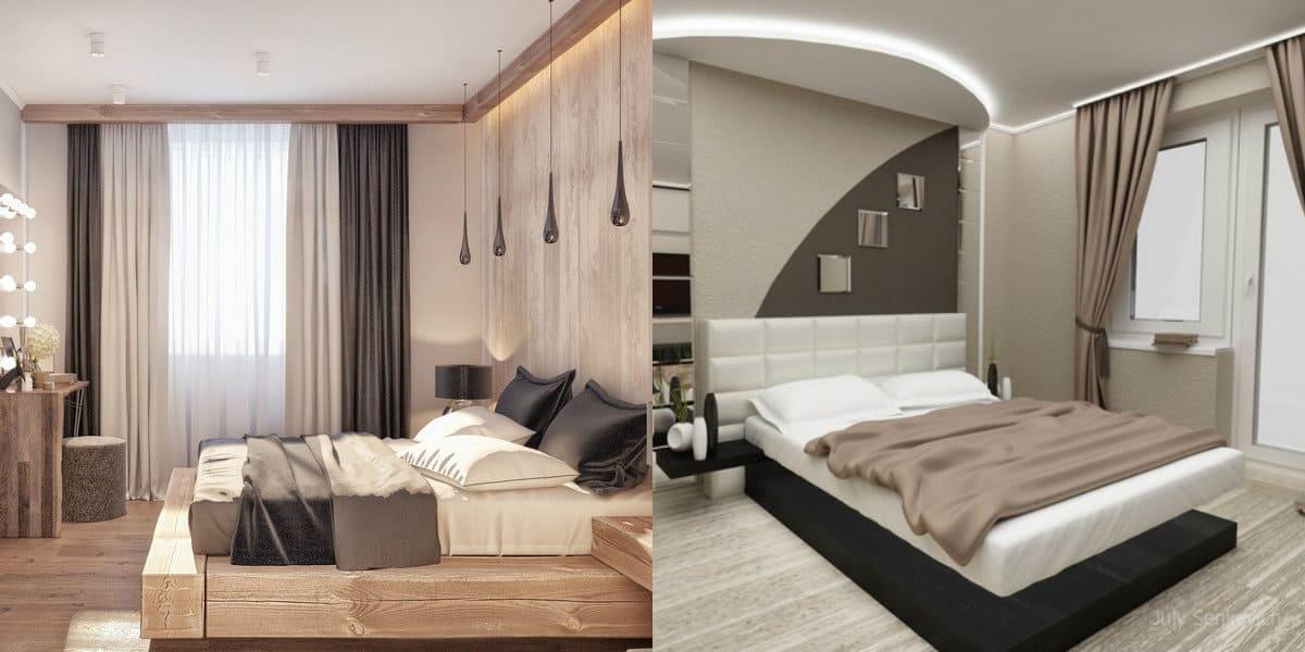 Интерьер спальни 2019: кровать