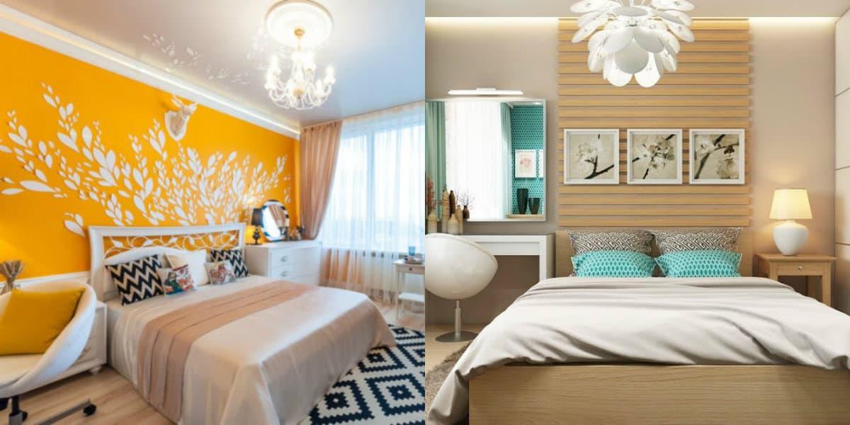 Интерьер спальни 2019: цвет