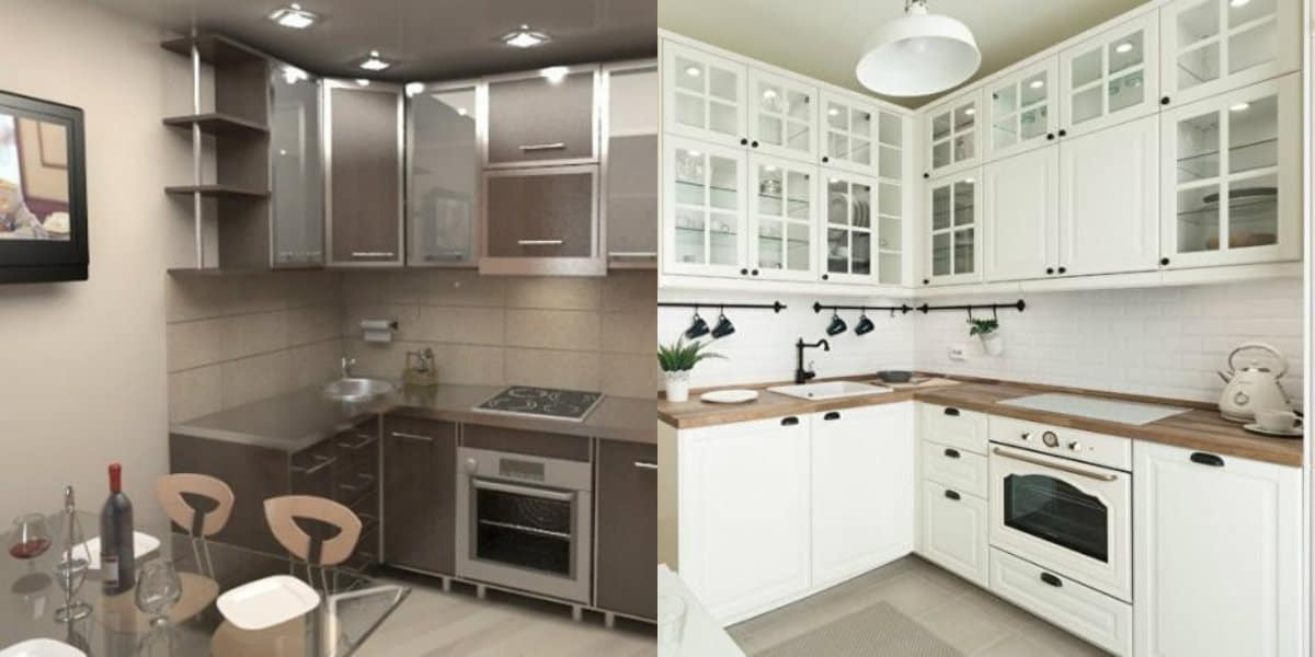 Кухни угловые дизайн 2019: классика