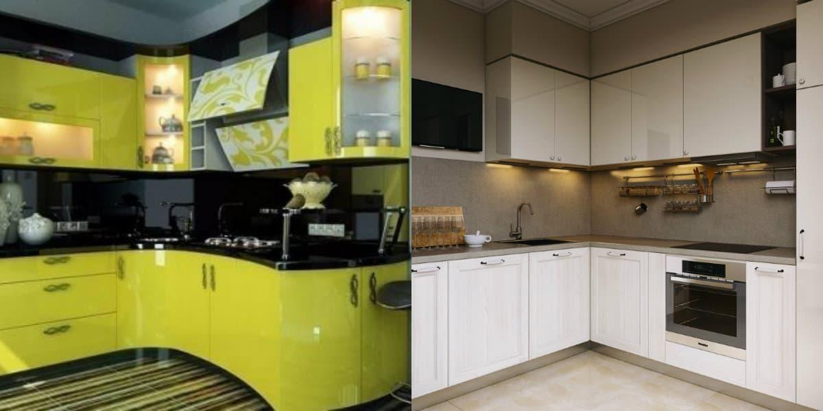 Кухни угловые дизайн 2019: ярко-желтый фасад