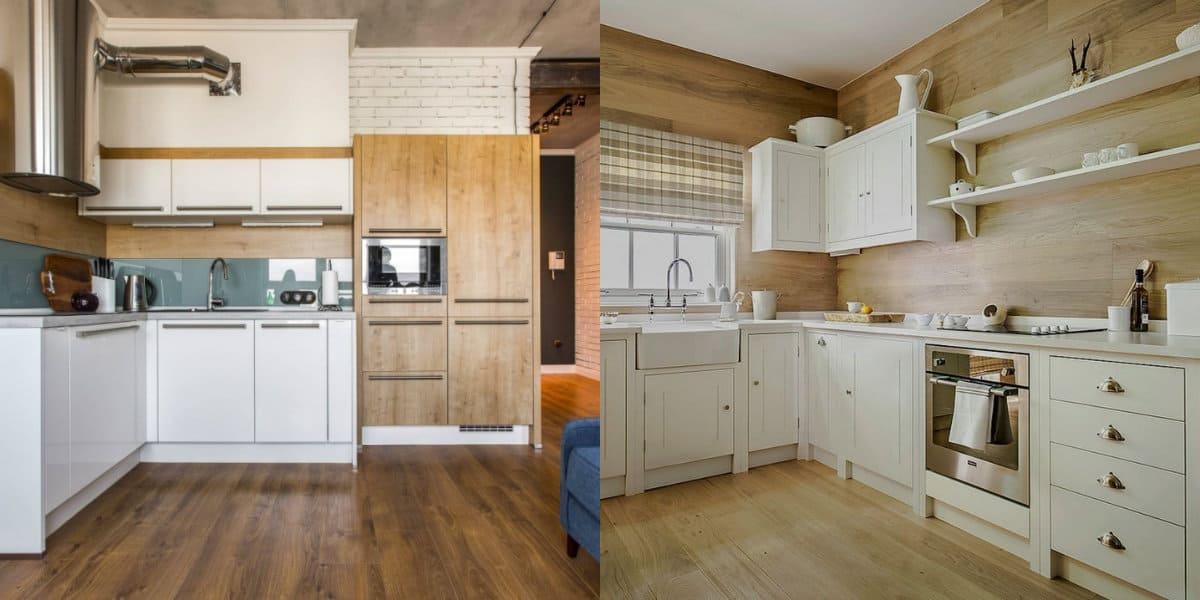 Кухни угловые дизайн 2019: скандинавзский стиль