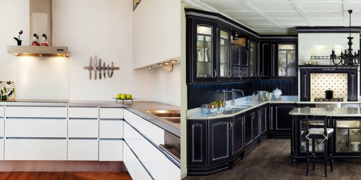 Кухни угловые дизайн 2019: неоклассика