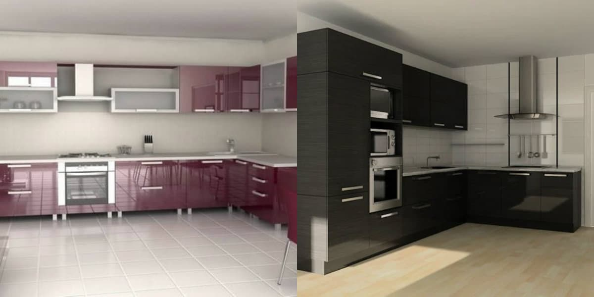Кухни угловые дизайн 2019: черная кухня