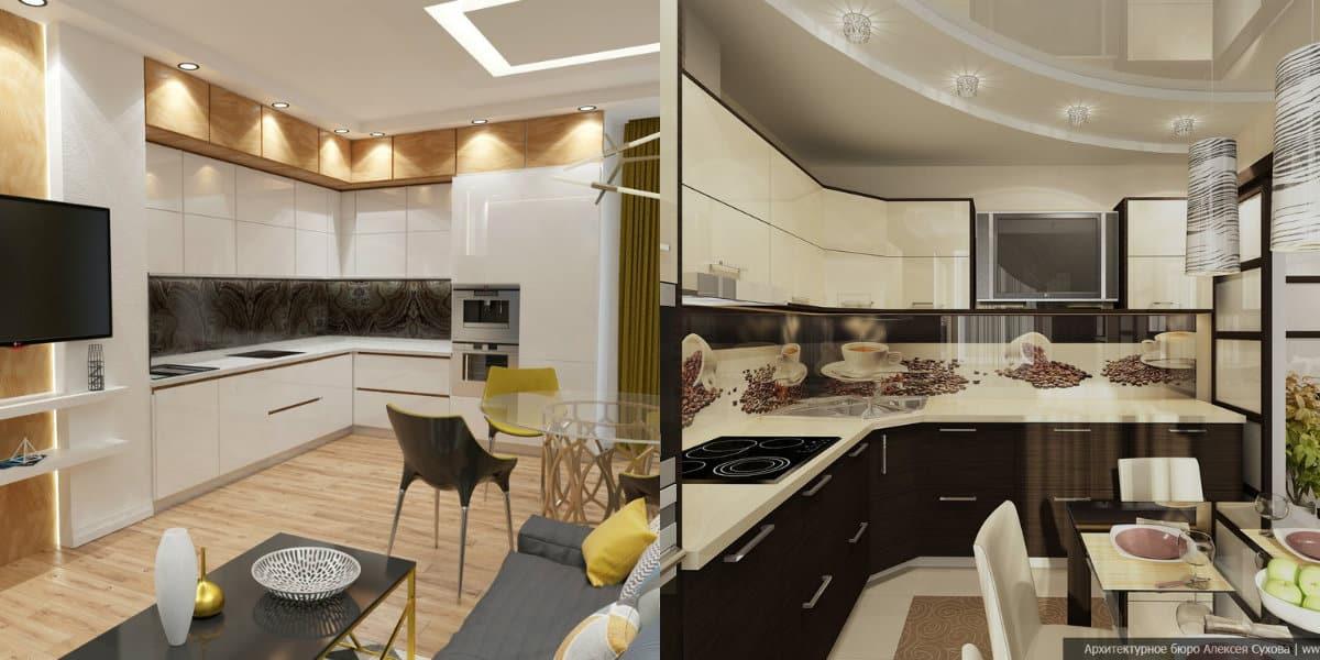 Кухни угловые дизайн 2019: фотопечать