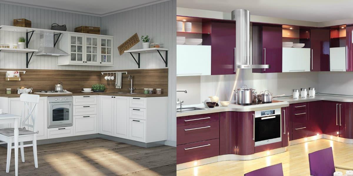 Кухни угловые дизайн 2019: цвет