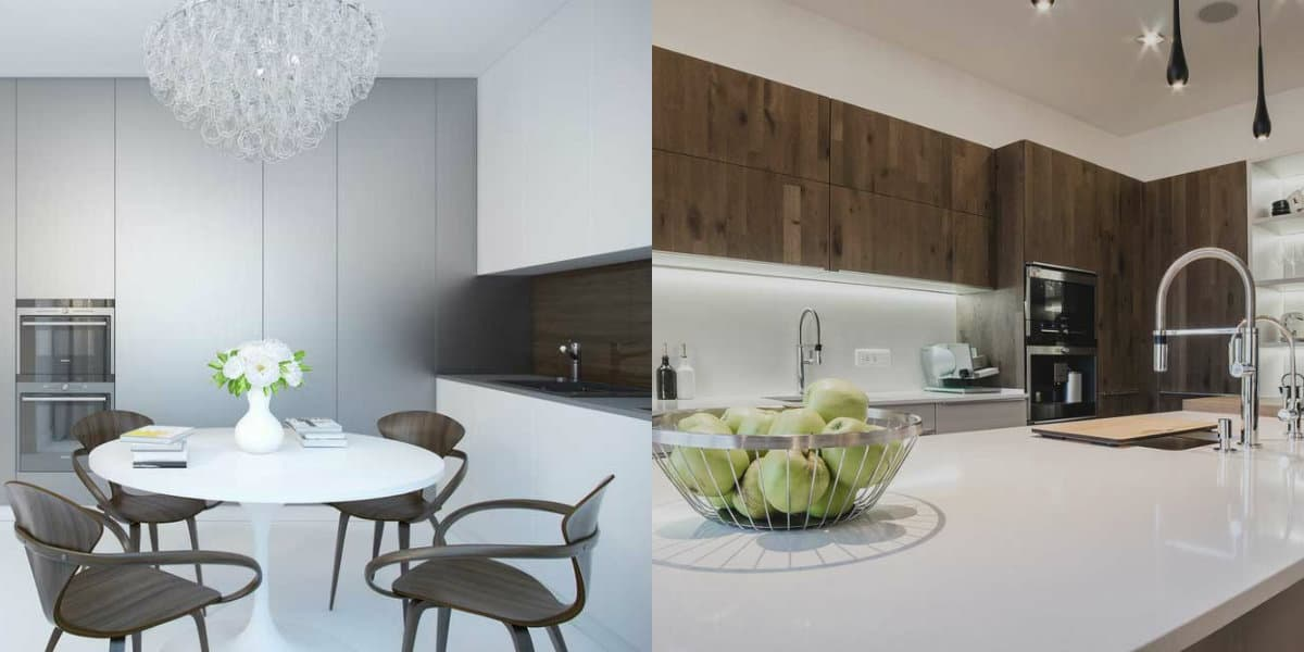 Кухонный гарнитур 2019: белый дизайн