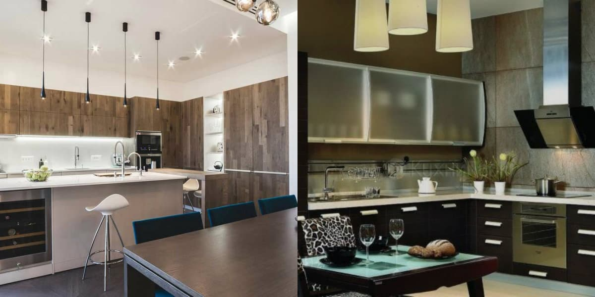 Кухонный гарнитур 2019: одноуровневая система хранения