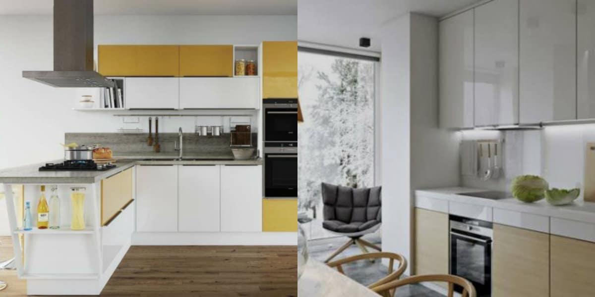 Кухонный гарнитур 2019: желтый фасад