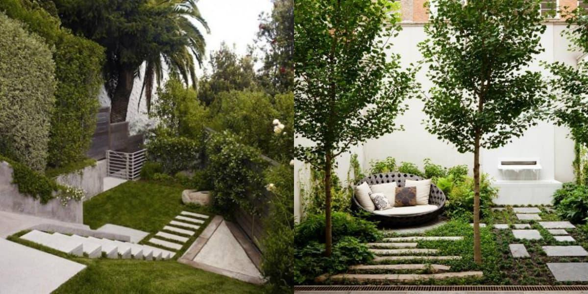 ландшафтный дизайн 2019: лестница