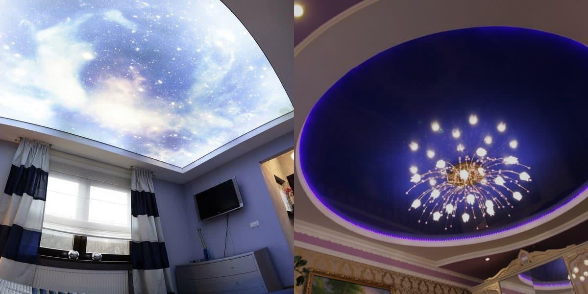 Натяжные потолки 2019: купол