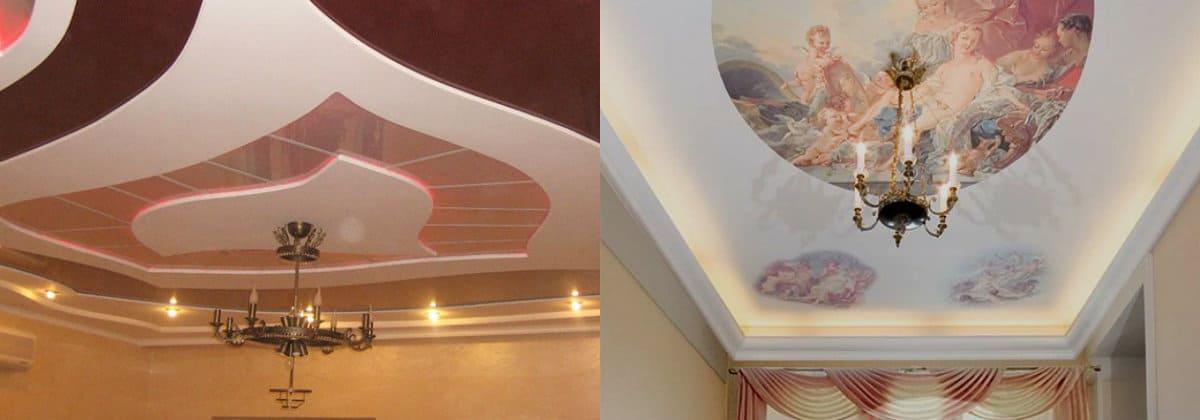 Натяжные потолки 2019: изображение фрески