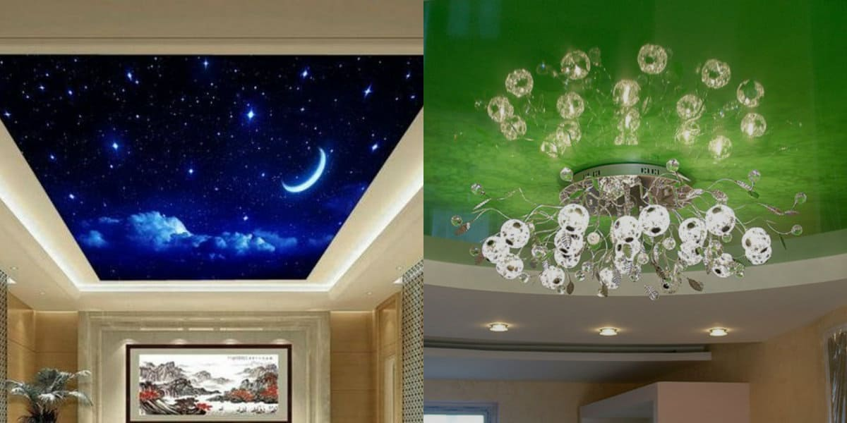 Натяжные потолки 2019: ночное небо