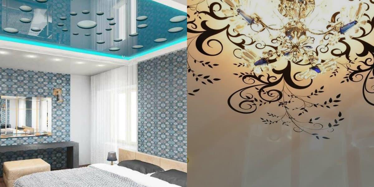 Натяжные потолки 2019: орнамент