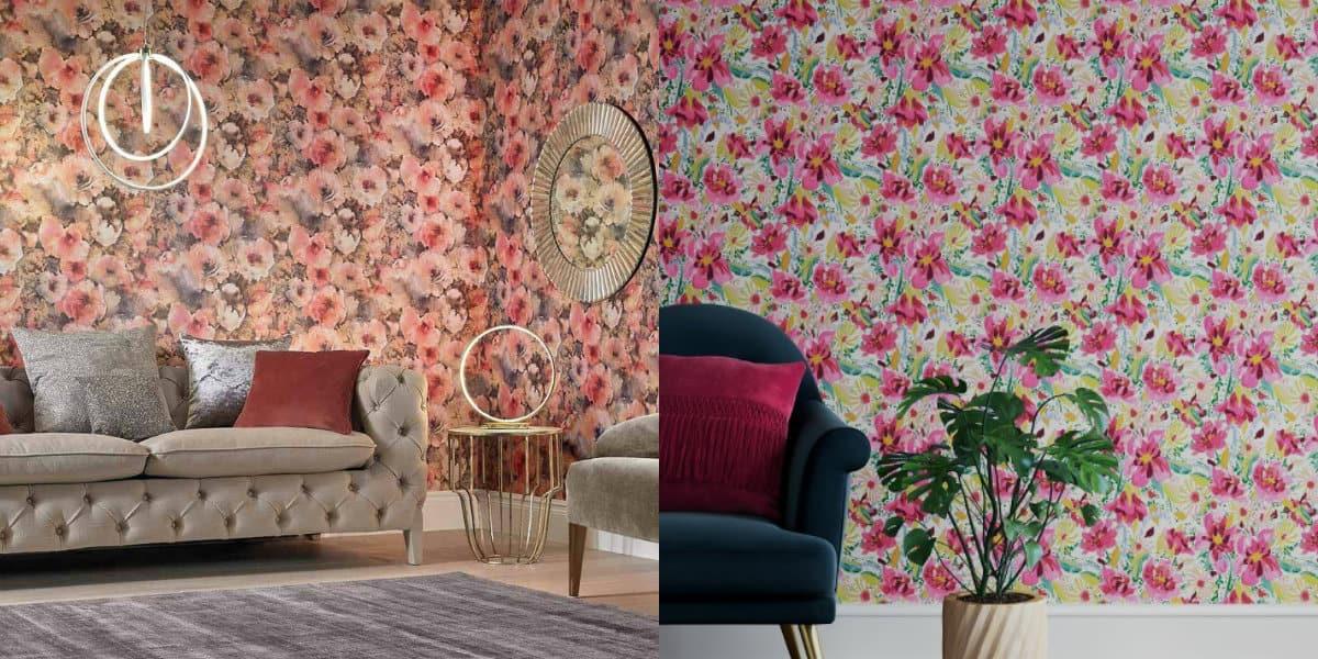 современные обои 2019: цветочный орнамент