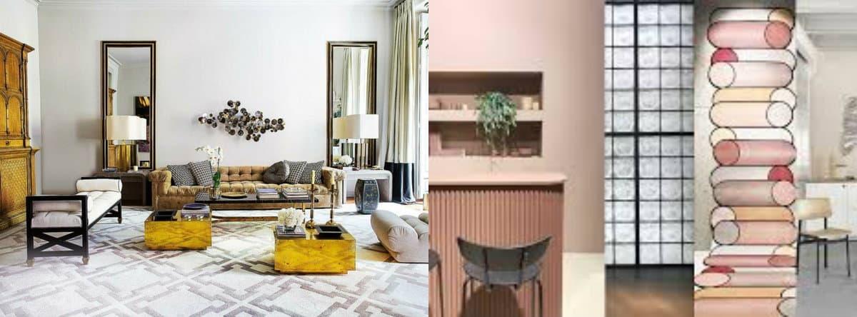 Модные цвета в интерьере 2019: розовый