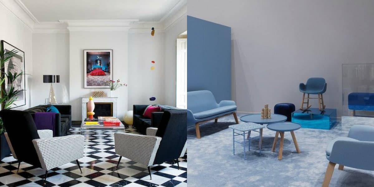 Модные цвета в интерьере 2019: голубой