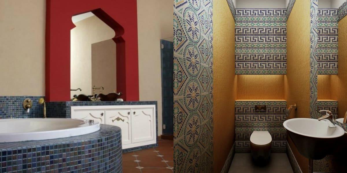 Ванная в арабском стиле: арка