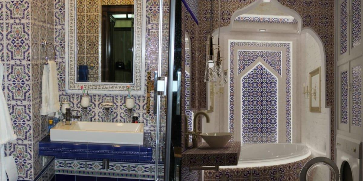 Ванная в арабском стиле: зеркало