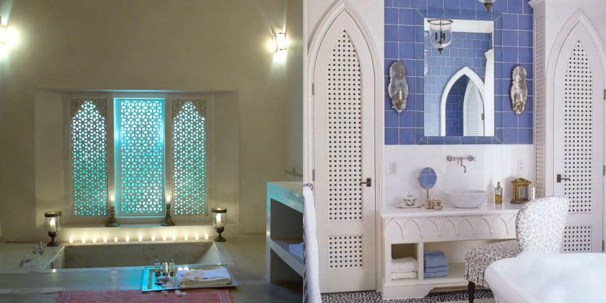 Ванная в арабском стиле: цвет