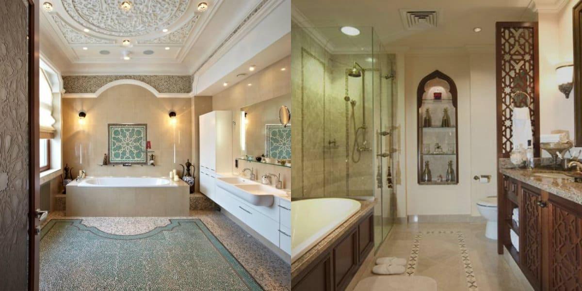 Ванная в арабском стиле: резьба